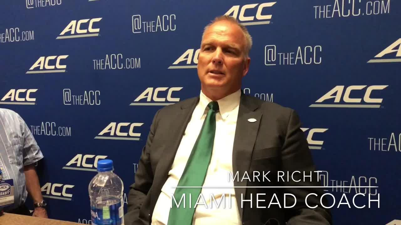Florida State coach Willie Taggart and Miami coach Mark Richt discuss Clemson's current status in the ACC.