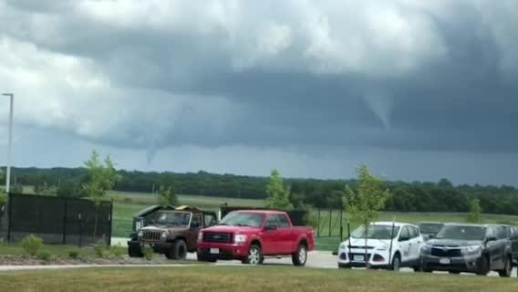 Tom Hardinge took this video that shows two tornadoes between Ankeny and Bondurant on Thursday, July 19, 2018.