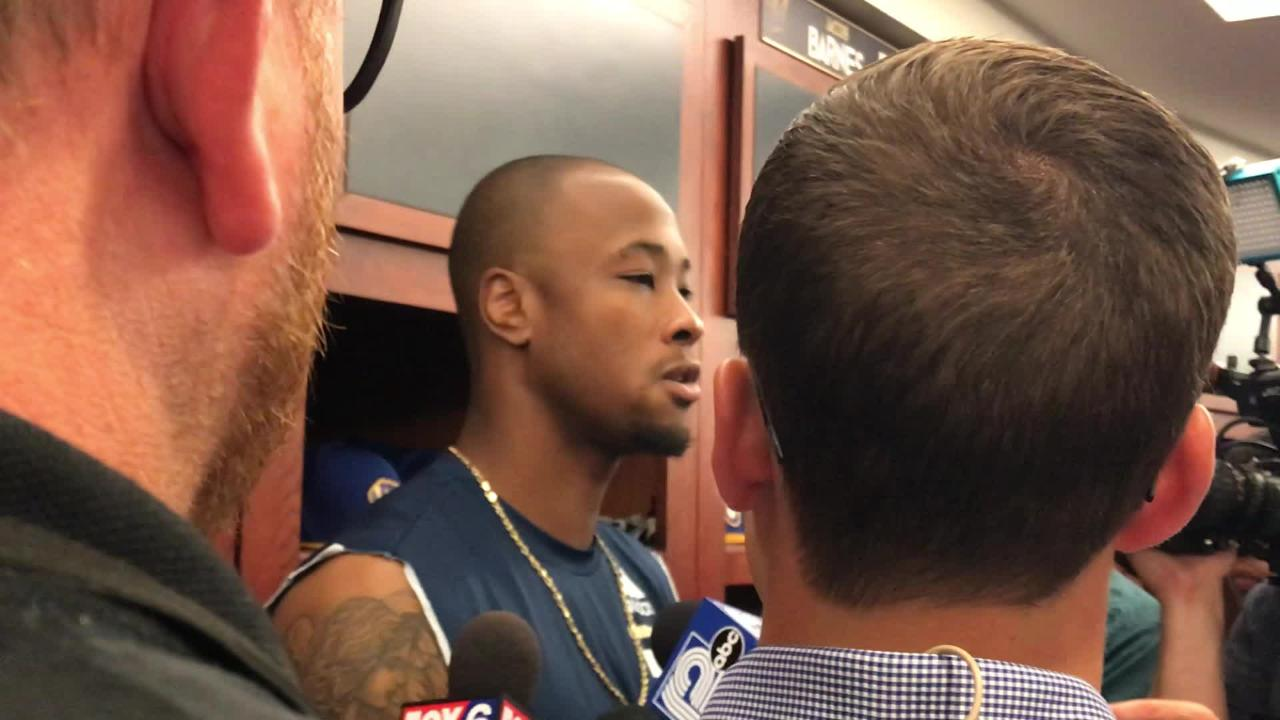 """I know you, not from tweets, not from a picture you posted, I know you from having a conversation with you."" -- Keon Broxton on teammate Josh Hader"