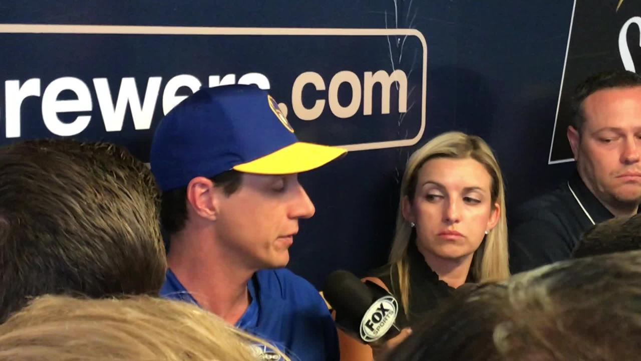 Craig Counsell talked about the challenge of moving on after Josh Hader's offensive tweets were unearthed Tuesday.