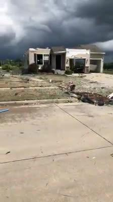 This video from Alec Nahas shows the tornado damage on Mallard Pointe Drive NW in Bondurant after storms blew through the Iowa town on July 19, 2018.
