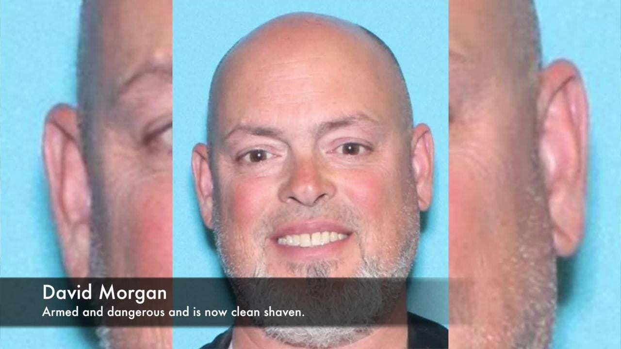 Sheriff Thomas Dougherty said police have searched hundreds of acres looking for David Morgan but police don't know where he is.