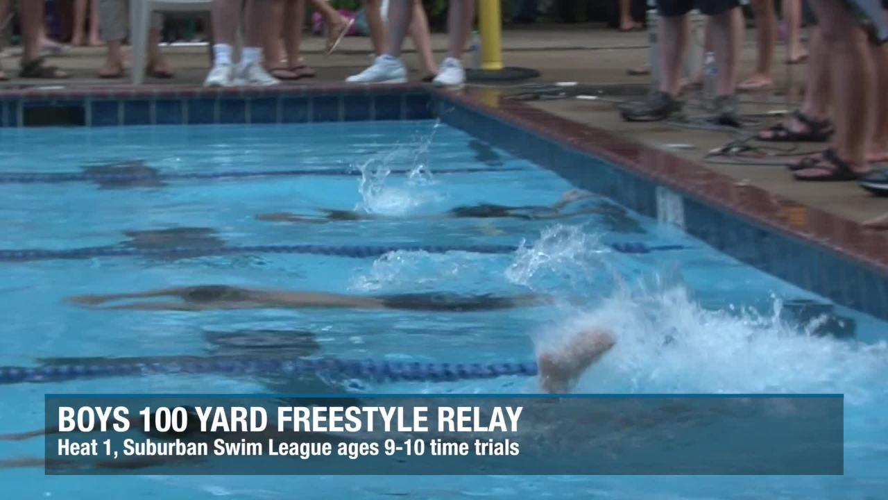 Check out the girls and boys relays from the 9-10-year-old 100 yard freestyle relays at Yorklyn Swim Club.