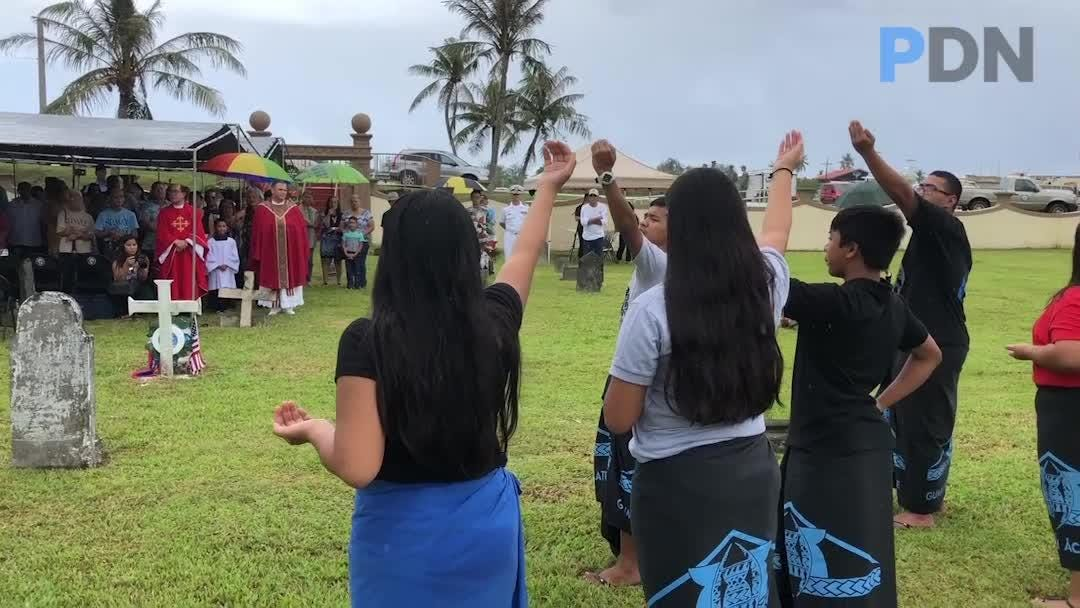 Mass celebrated at Sumay Cemetery