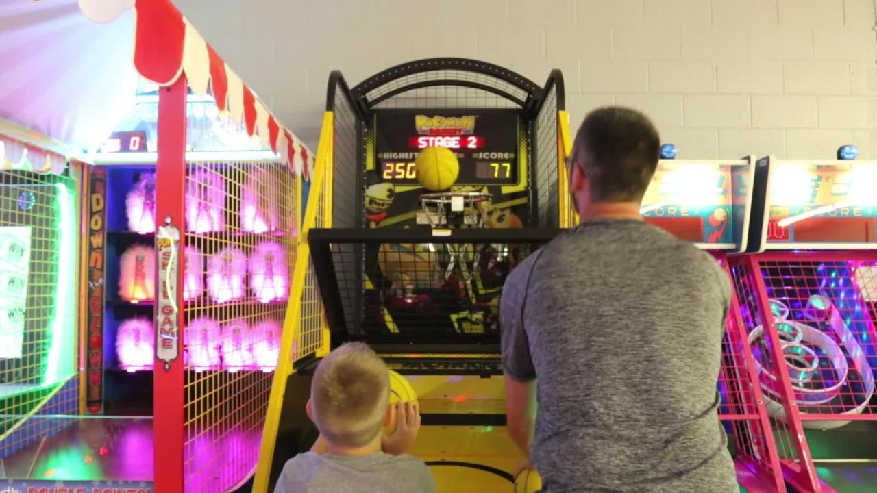 Located in the Marshfield Mall, the family fun facility offers laser tag, mini golf and arcade games.