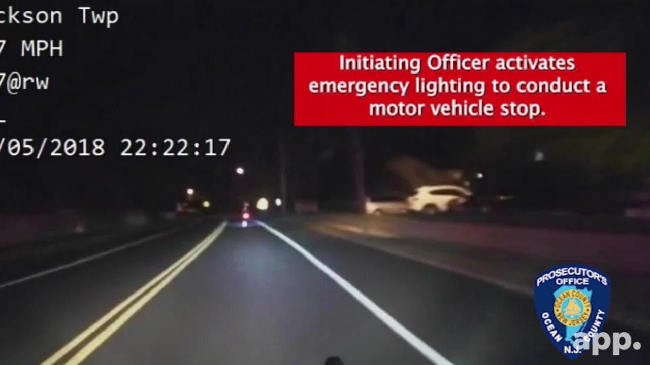 The Ocean County Prosecutor's Office released dash cam footage of a chase that turned into a fatal crash.