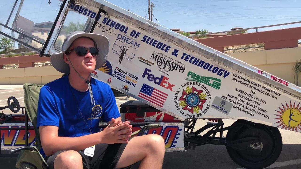 The 2018 Solar Car Challenge rolled into El Paso Friday charging and making repairs to their cars, to continue their journey to Palmdale, California.