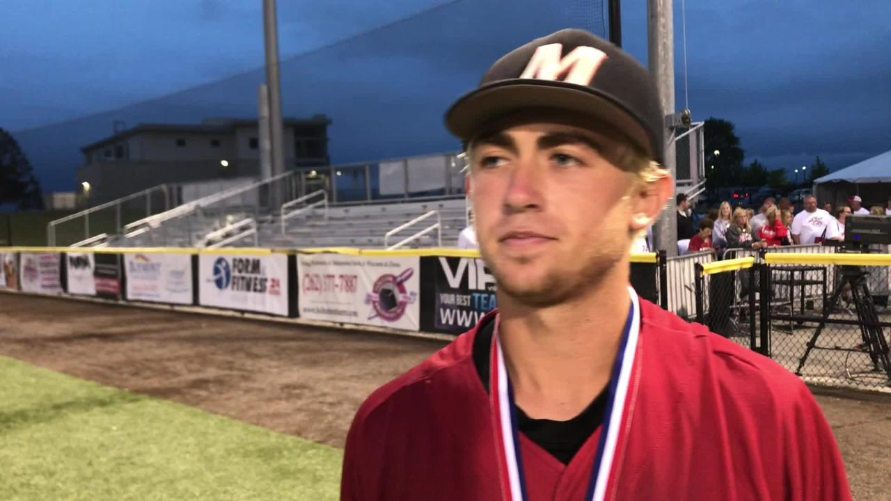 Warriors senior Frankie Cistaro discusses his walk-off single to win the WIAA summer baseball state championship, 2-1, over Pius XI.