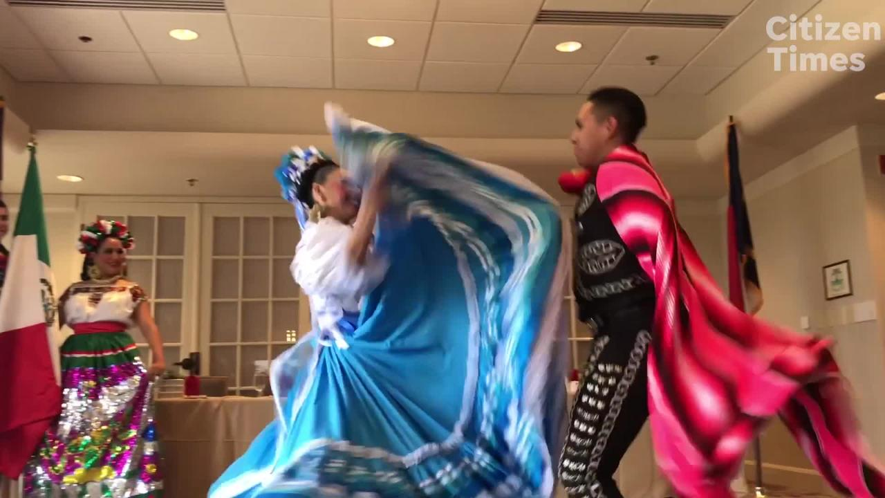 The Fiesta Mexicana Ballet Folklorico performed for the Asheville Rotary Club for a preview of Folkmoot. The Folkmoot Festival is now through July 29.