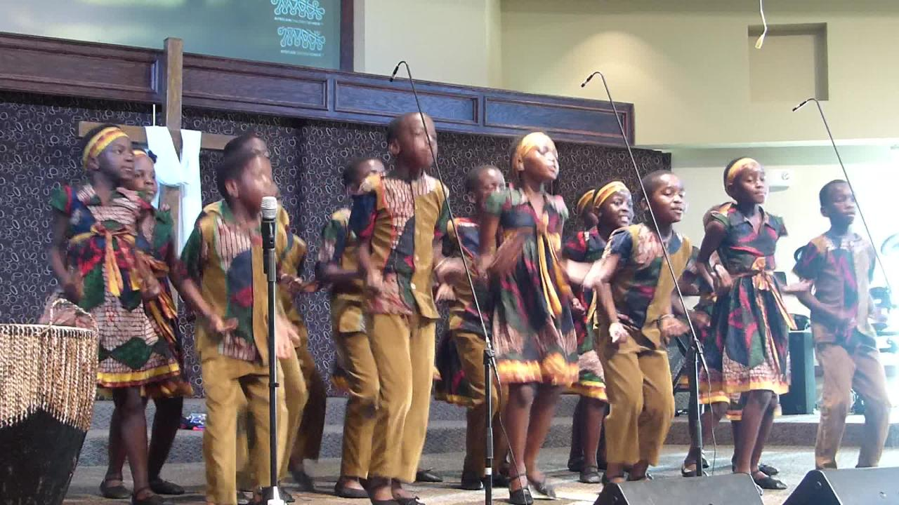 Members of the 48th African Children's Choir performed at the First Baptist Church of Ruidoso Friday