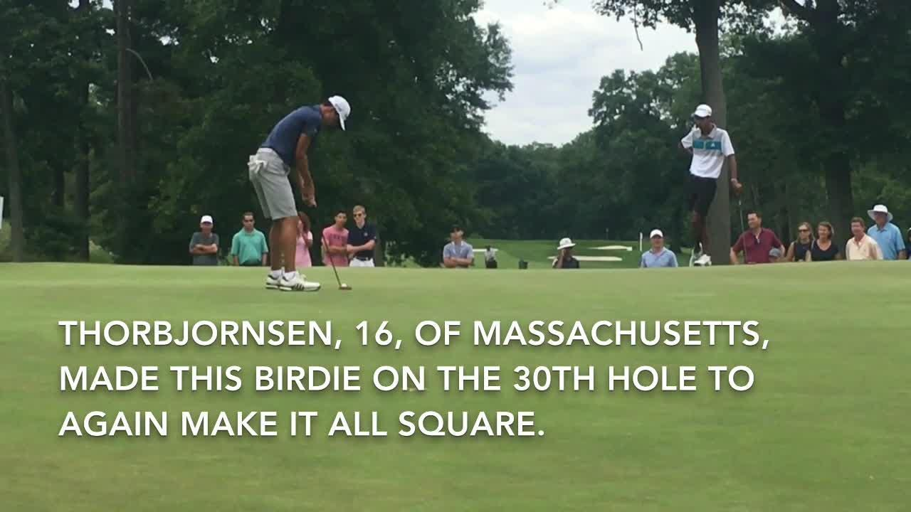 Massachusetts' Michael Thorbjornsen,16, wins 71st US Junior Amateur golf title