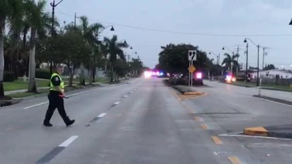 Police closed a portion of Dr. Martin Luther King Jr. Boulevard in Fort Myers after an officer was shot on Saturday, July 21, 2018.