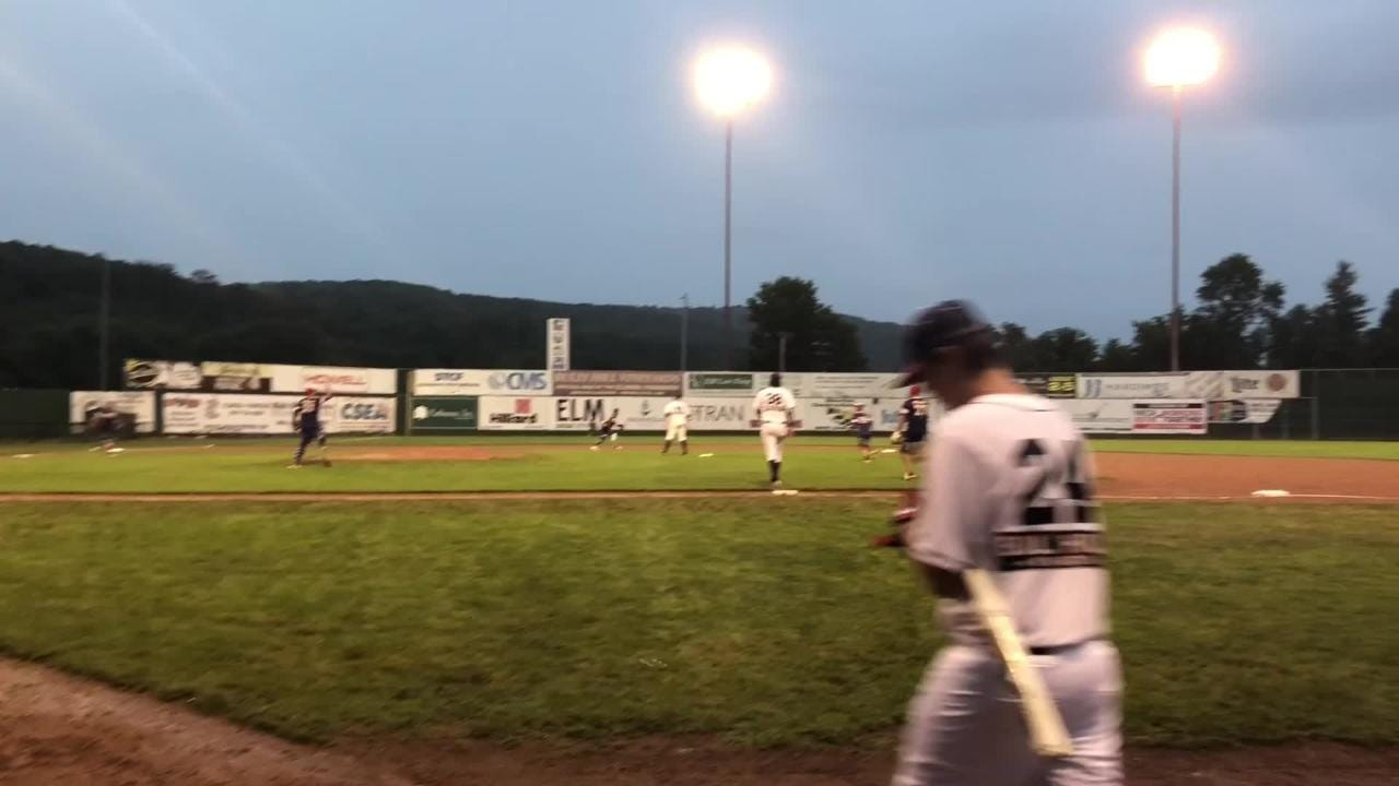 The Elmira Pioneers hosted the Wounded Warrior Amputee Softball Team on July 21, 2018. WWAST was an 11-5 winner in the rain in the seven-inning game.