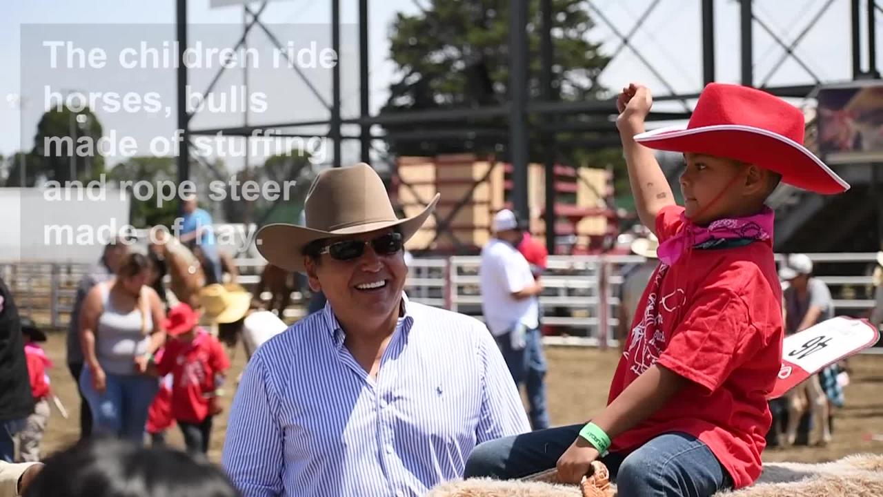 "Previously called ""The Exceptional Rodeo,"" Saturday's California Rodeo Salinas' activities included a makeshift rodeo for special needs children."