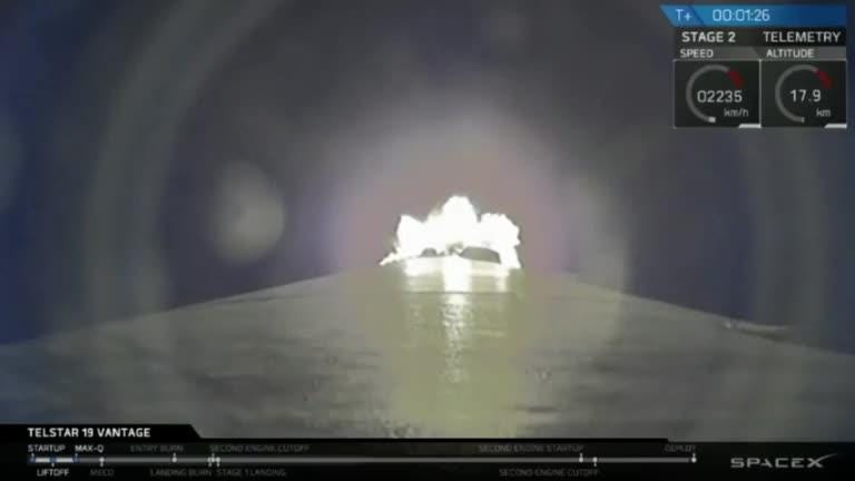 SpaceX launched a Falcon 9 rocket from Cape Canaveral on Sunday, July 22, 2018 and successfully delivered the Telstar 19V satellite to orbit.