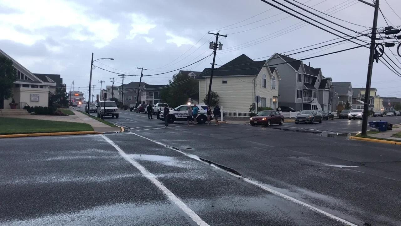 Scenes from the Manasquan standoff on Sunday.