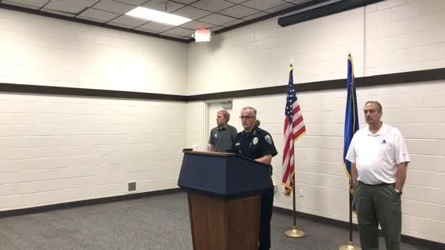 Officials in Fallon update the press July 23, 2018, a day after John O'Connor allegedly opened fire at a church, killing one and injuring another.