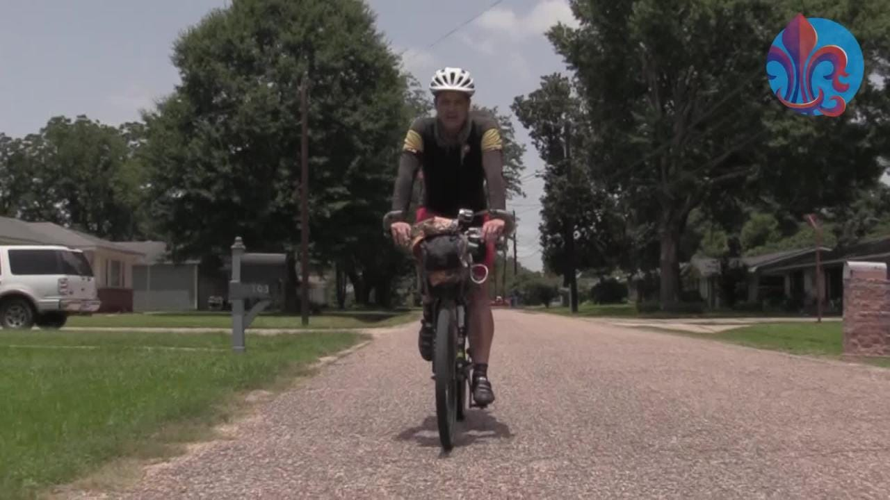 Why a man is riding his bike 5,000 miles for love