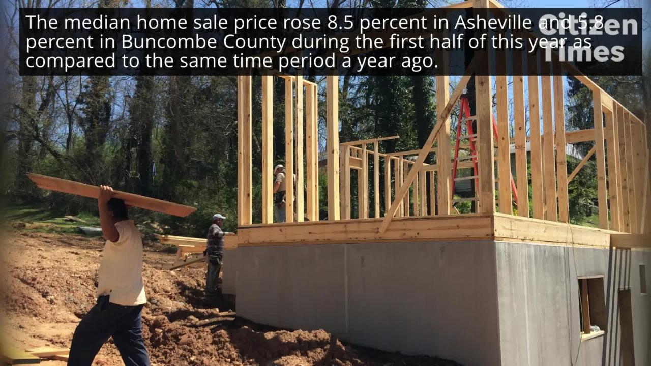 Yet again, Asheville and Buncombe County set records in the second quarter of 2018 for the median home sales price .