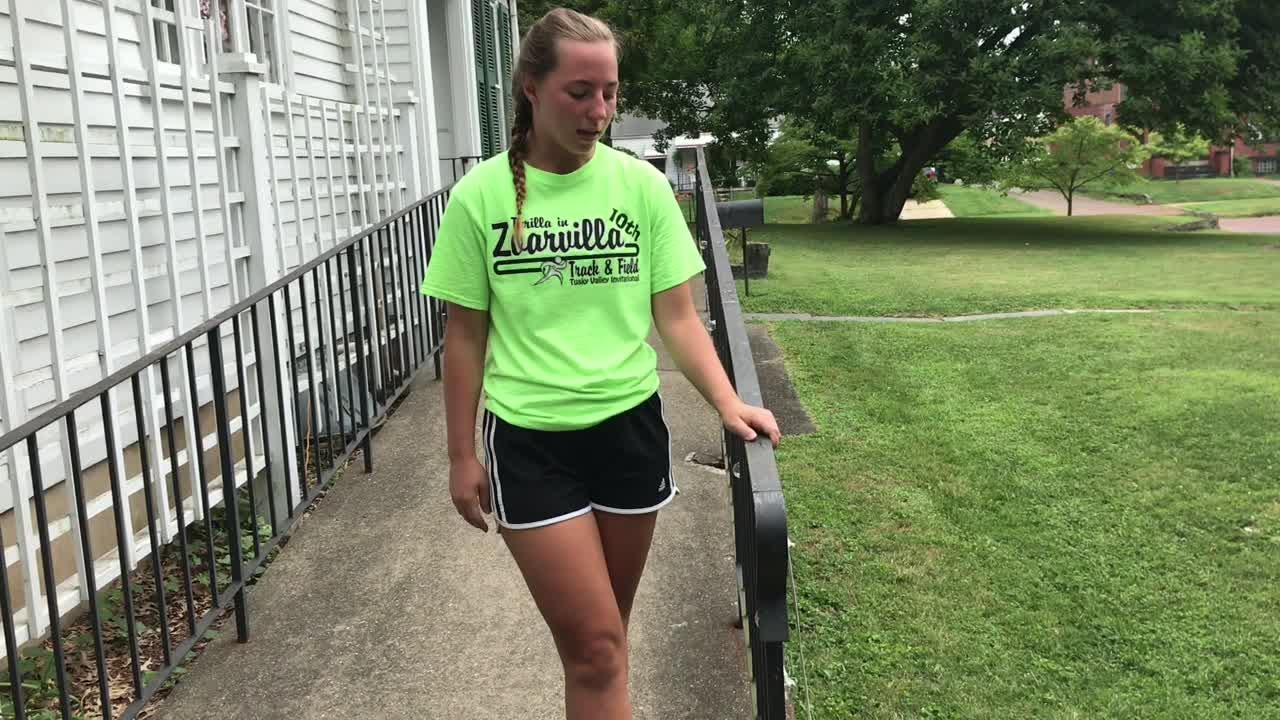 Katie Leitz talks about a rail painting project and how she has enjoyed working at the Pomerene Center for Arts as part of the Summer Work Experience Program through Coshocton County Job and Family Services.