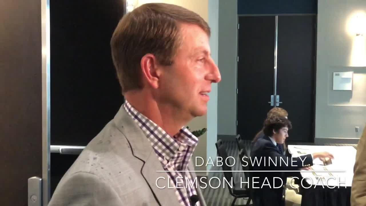 Clemson head coach Dabo Swinney respond to the social media uproar surrounding his annual Ladies Clinic.