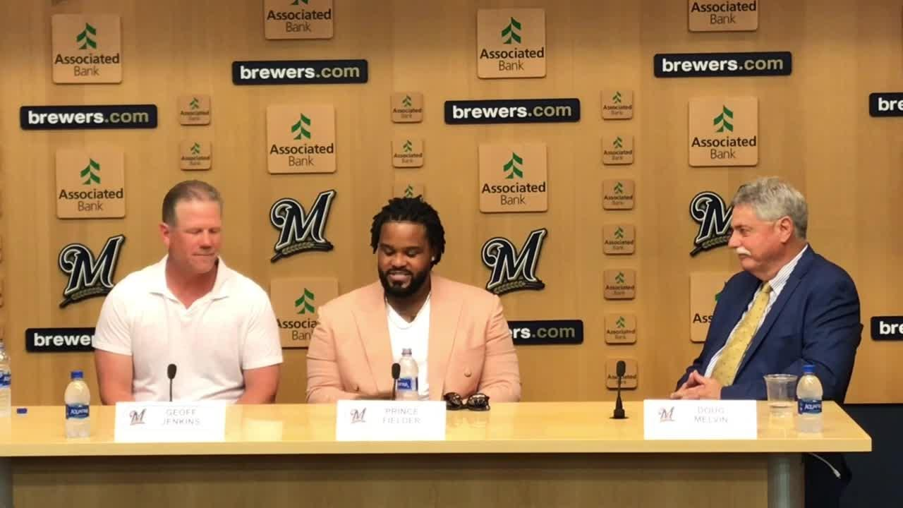 The Brewers honored Prince Fielder, Doug Melvin and Harry Dalton on the Wall of Honor and Geoff Jenkins on the Walk of Honor.