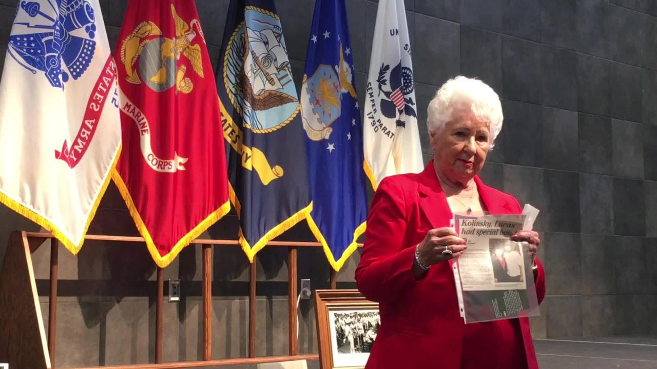 Medal of Honor recipient Jack Lucas died in 2008, but his widow, Ruby Lucas, keeps his legacy alive by sharing his story whenever she can.