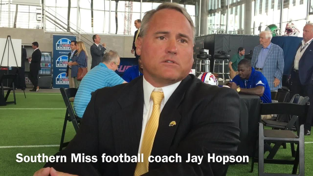 Southern Miss head football coach Jay Hopson details what makes Louisiana Tech sophomore cornerback Amik Robertson so good.