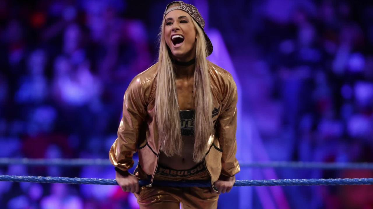 "Carmella talks about Netflix show ""GLOW,"" how female wrestling has become the norm. The wrestling champ appears Monday at Germain Arena's WWE event."