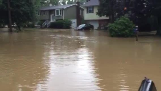 Flooding hits neighborhood in Penn Township