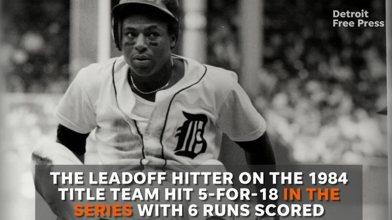 Get the numbers on a Detroit Tigers' all-time great, Lou Whitaker