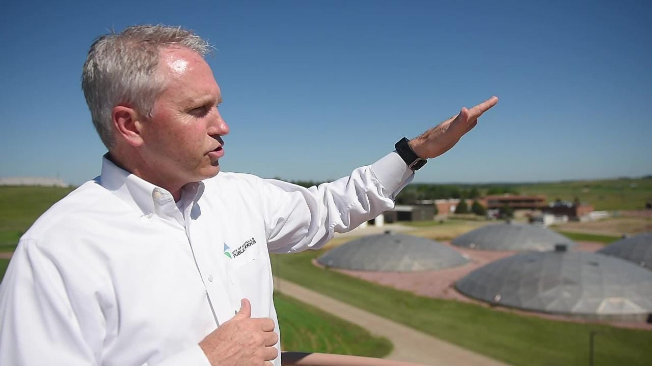 Public Works Director Mark Cotter gives a tour of the City Of Sioux Falls Water Reclamation plant Tuesday, July 17, in Sioux Falls.
