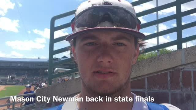 Mason City Newman's Caden Kratz threw a three-hitter to lead his team to a 6-0 win over MSM