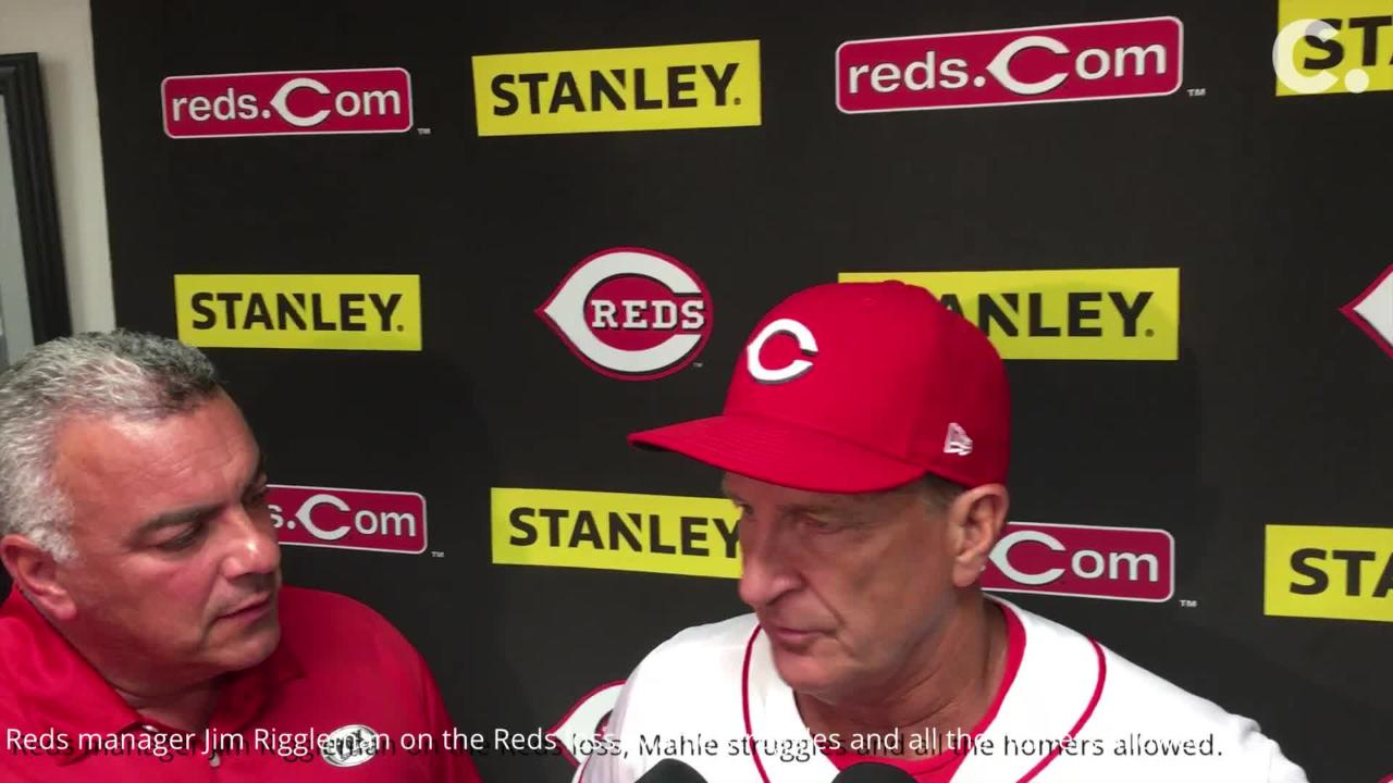 Cincinnati Reds manager Jim Riggleman talks homers allowed against Phillies