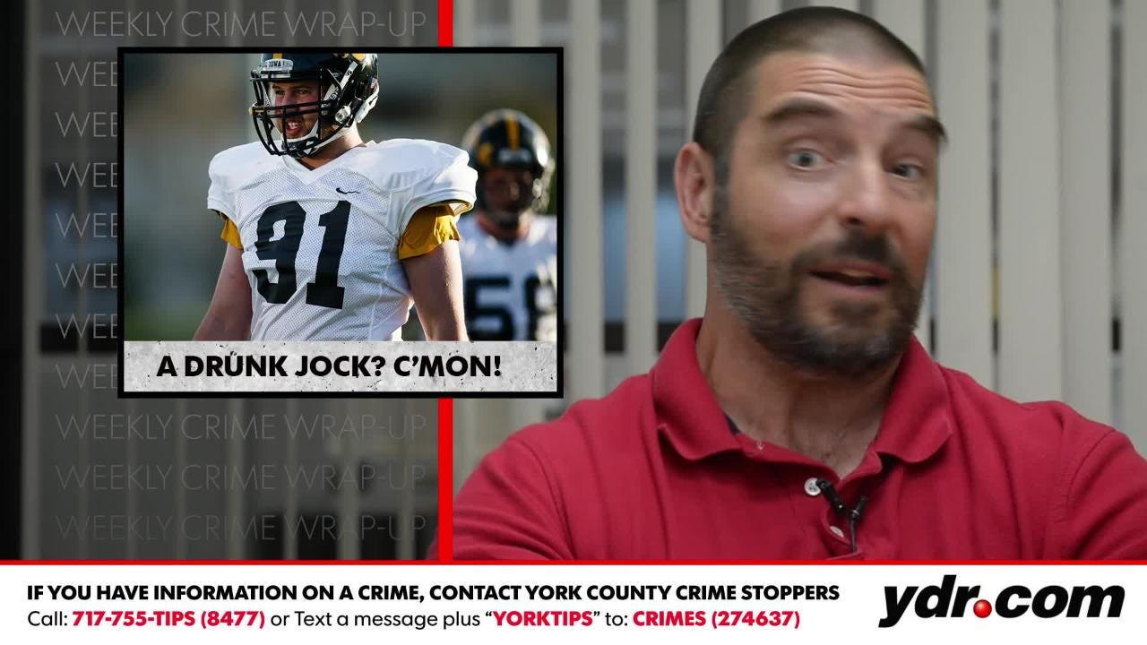 """This week in the wrap up, York Daily Record crime reporter Ted Czech covers """"Enjoy your 15 minutes,"""" """"A drunk jock? C'mon!"""" and """"The benefits of huffing."""""""
