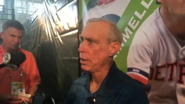 Detroit Tigers legend Alan Trammell talks at Hall of Fame media day.