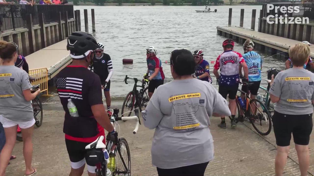 RAGBRAI 2018: Riders Finish Route in Davenport