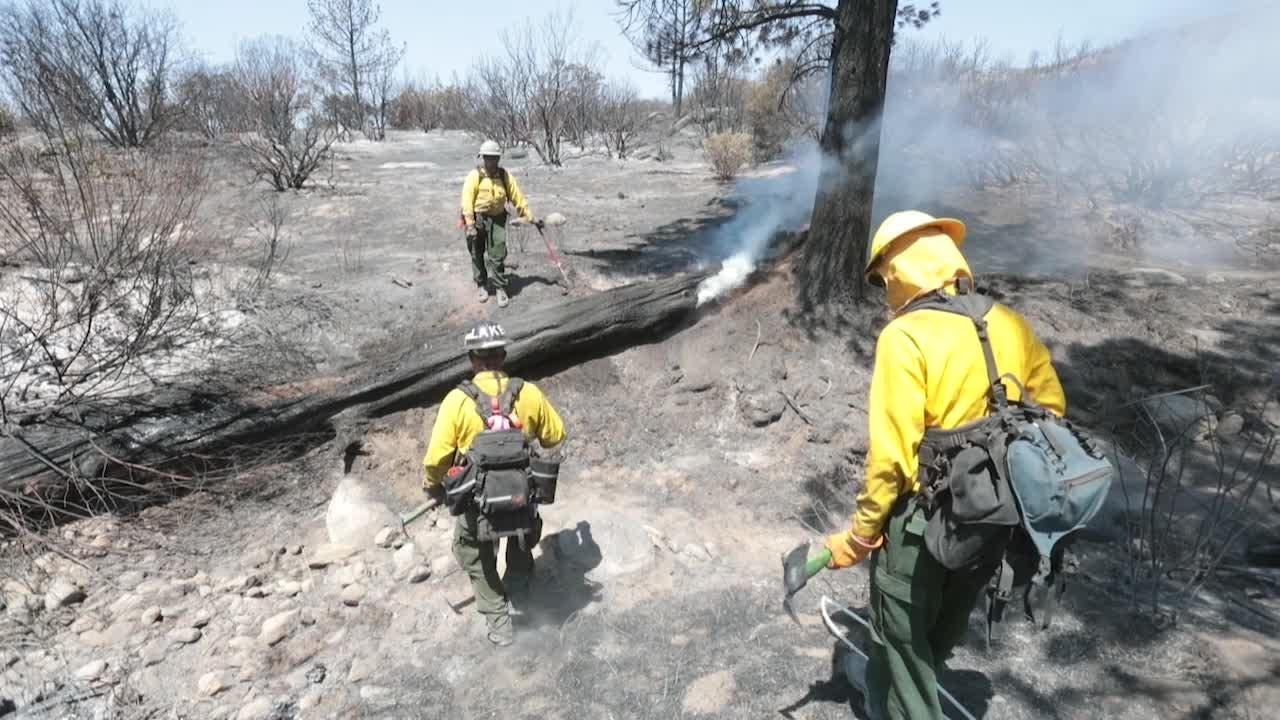 Fire crew fight Cranston Fire in Mountain Center