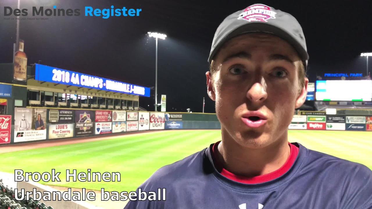 Brook Heinen, a junior on the Urbandale baseball team, overcame thyroid cancer before the 2018 season.