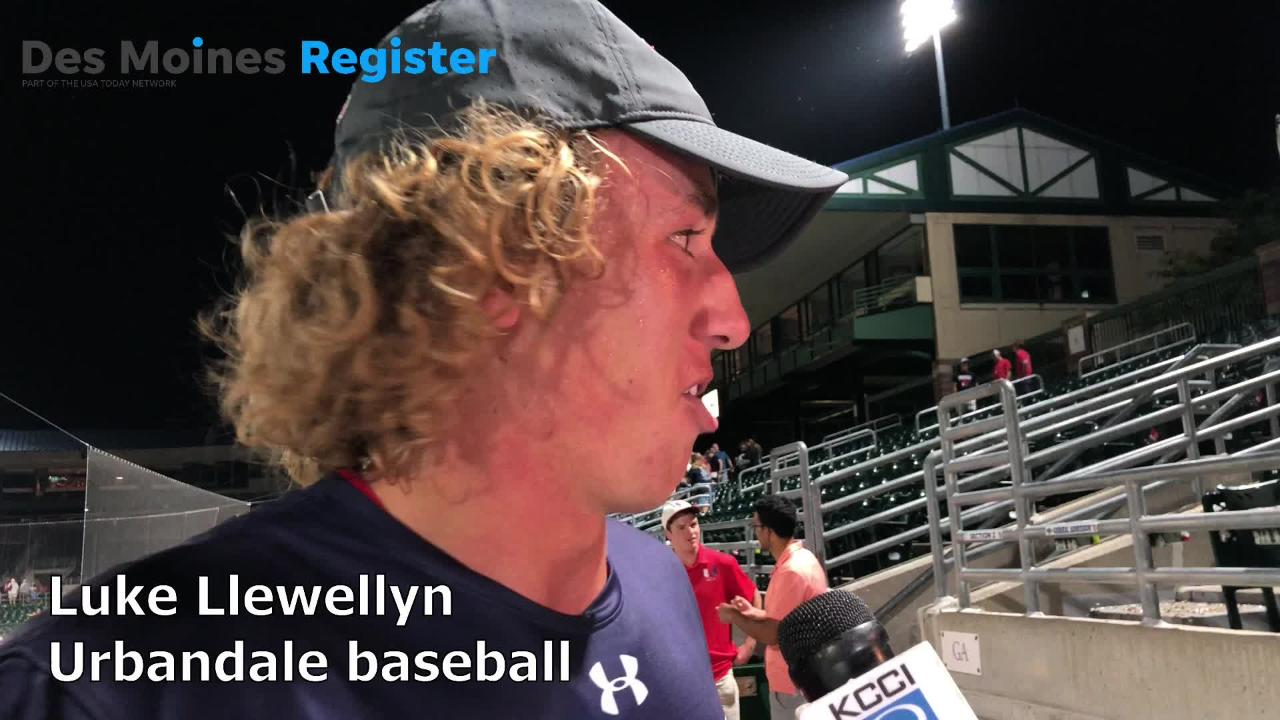 Senior ace Luke Llewellyn struck out 13 over seven innings to help Urbandale to a Class 4A state baseball championship.