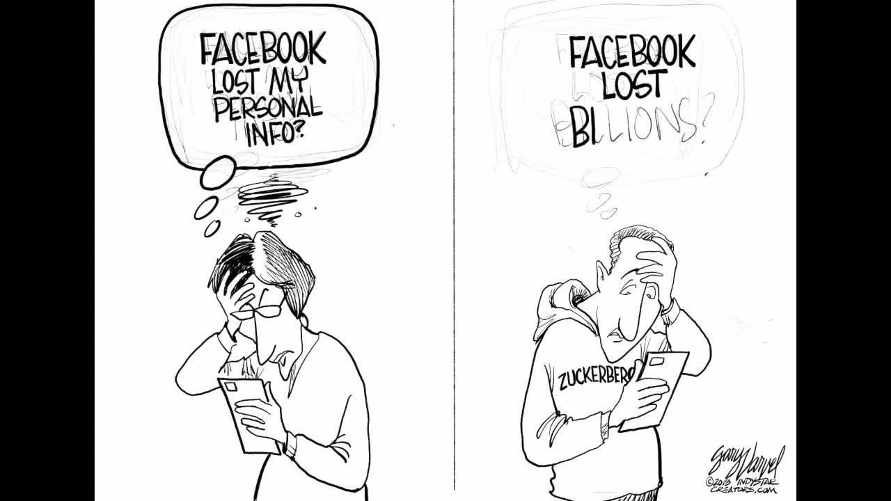 Watch Gary Varvel's time lapse video of his drawing of Facebook's losses.