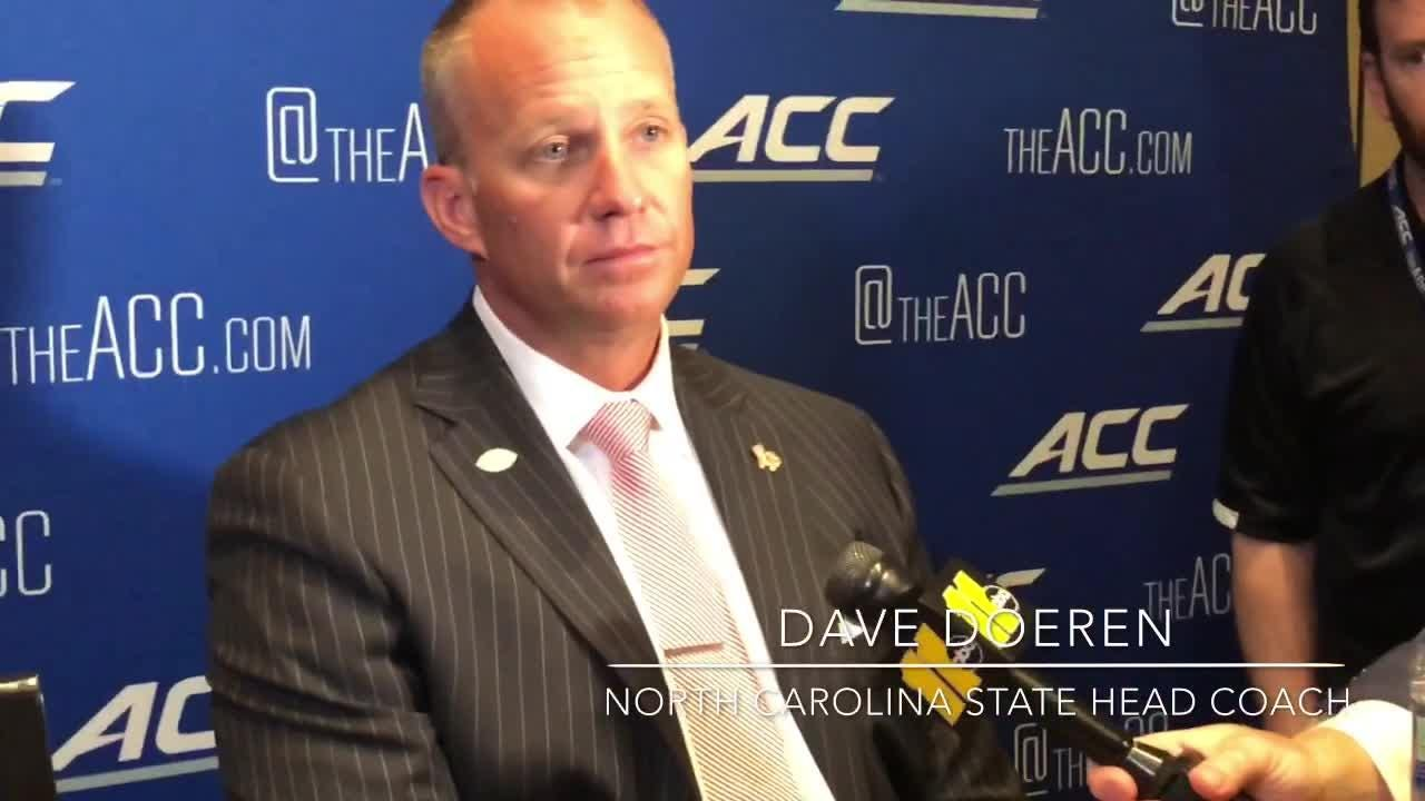 North Carolina State football coach Dave Doeren speaks on the challenge of facing Clemson.