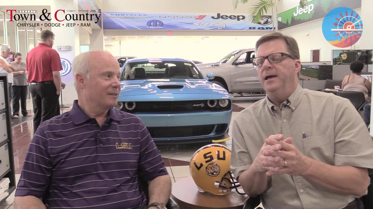 USA TODAY Network's Glenn Guilbeau previews the 2018 LSU football season with Mark Hebert of Hebert's Town and Country auto dealership in Shreveport.