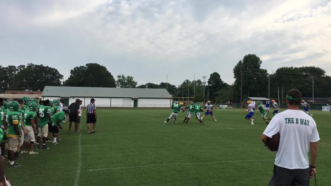 Riverside and Bolivar scrimmaged on July 31 prior to the 2018 season.