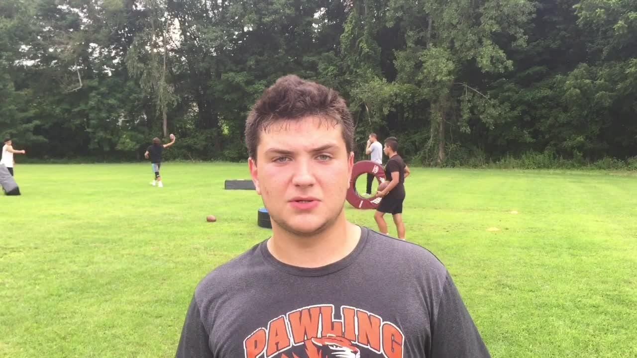 Football players from Pawling High School and Pine Plains discuss the adjustments required after their teams' switch to 8-man football, and what precipitated it.