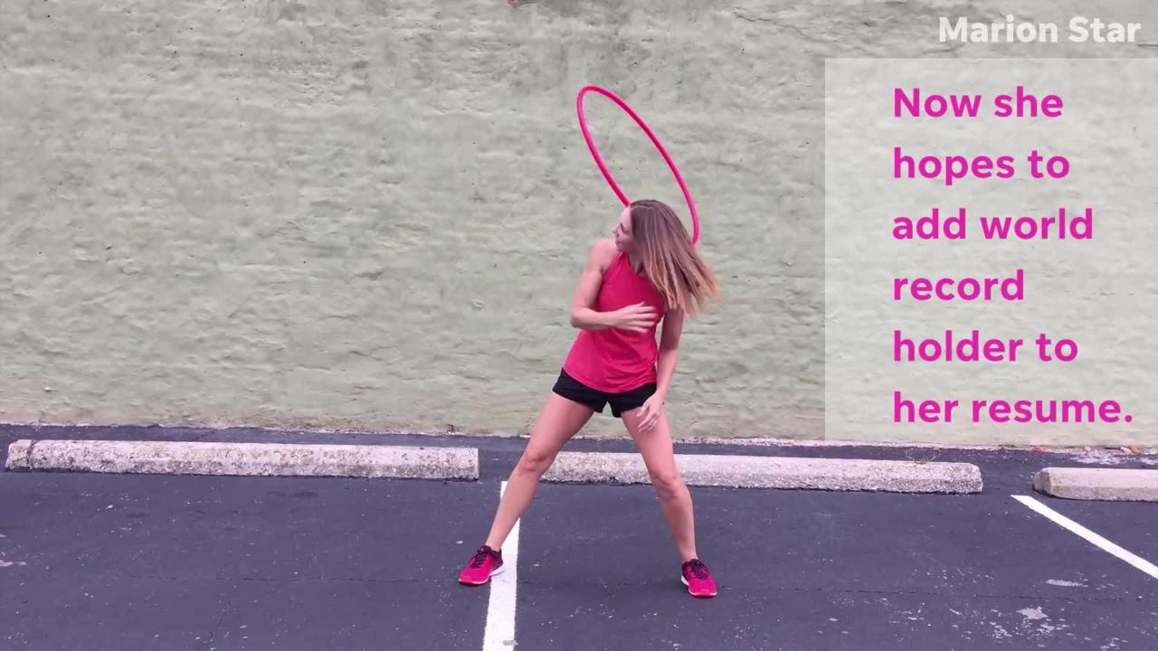 Rachael Lust, 31, has been hula hooping for seven years and professionally for about five. She now seeks to add world record holder to her resume.