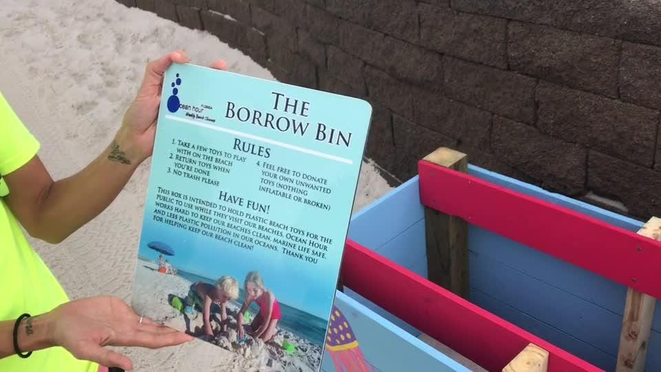 New beach toy bins to cut down on plastics in Gulf