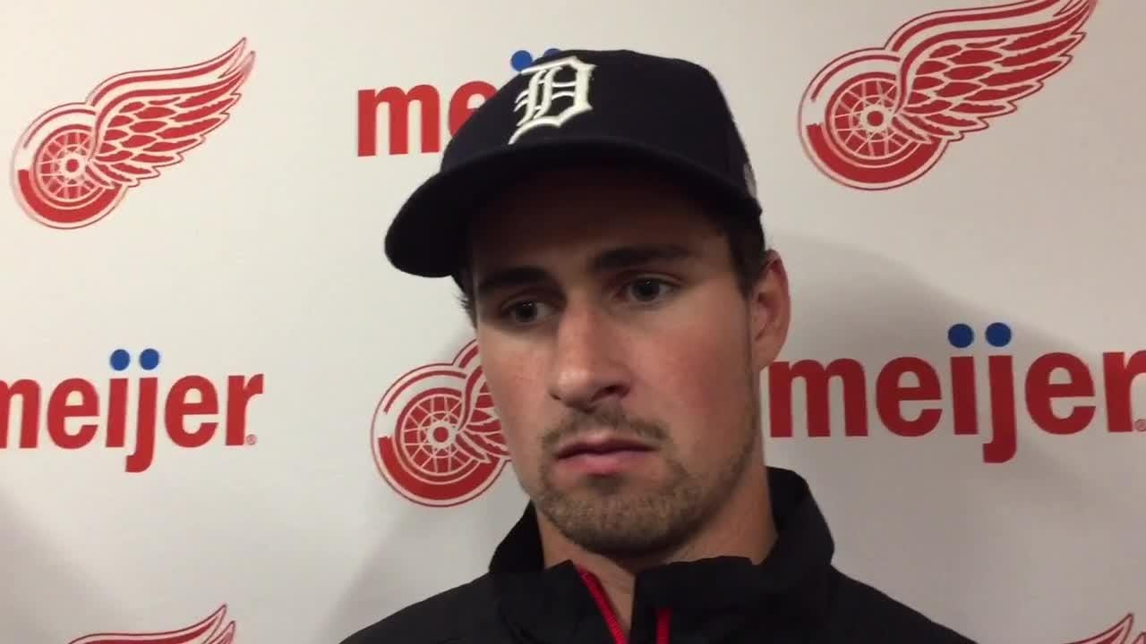 Detroit Red Wings forward Dylan Larkin talks off-season, Worlds, and contract talks Thursday, Aug. 2, 2018 at Little Caesars Arena.