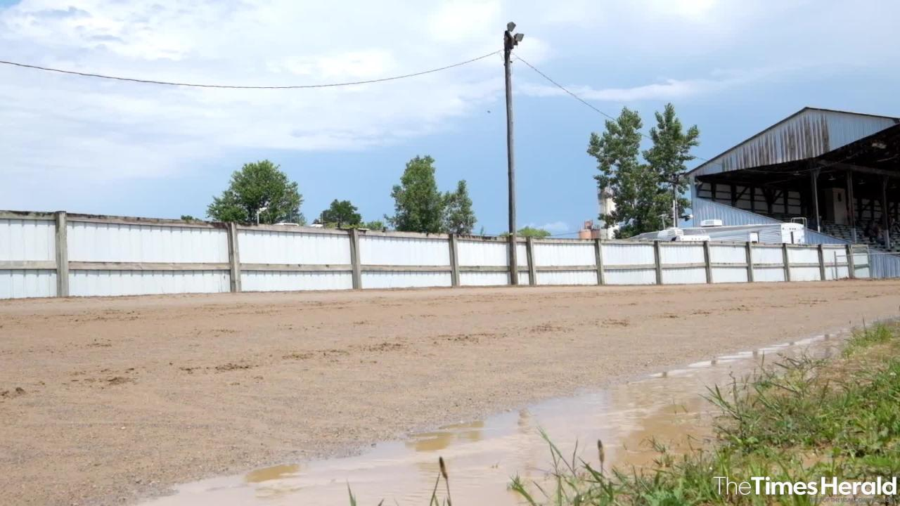 The harness races at the Croswell Agricultural Fair were delayed Thursday due to rain.