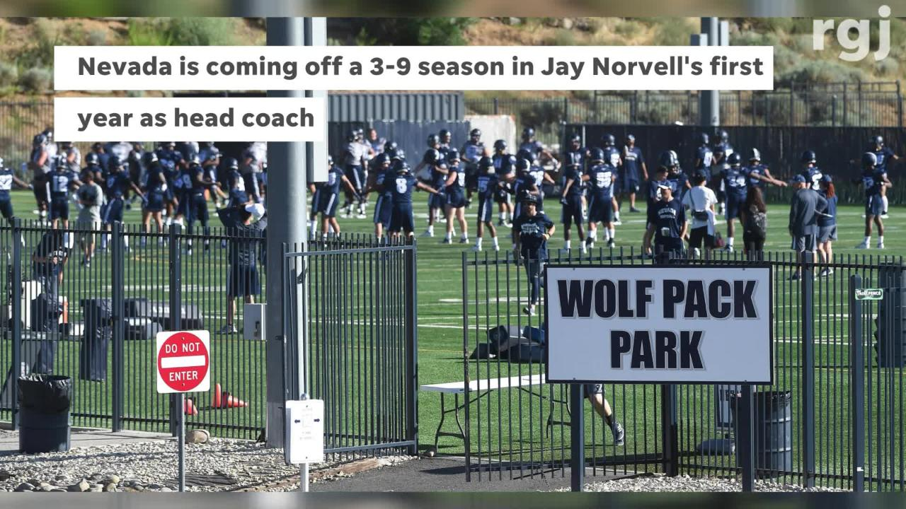 The Nevada Wolf Pack football team opened up fall camp on Thursday.